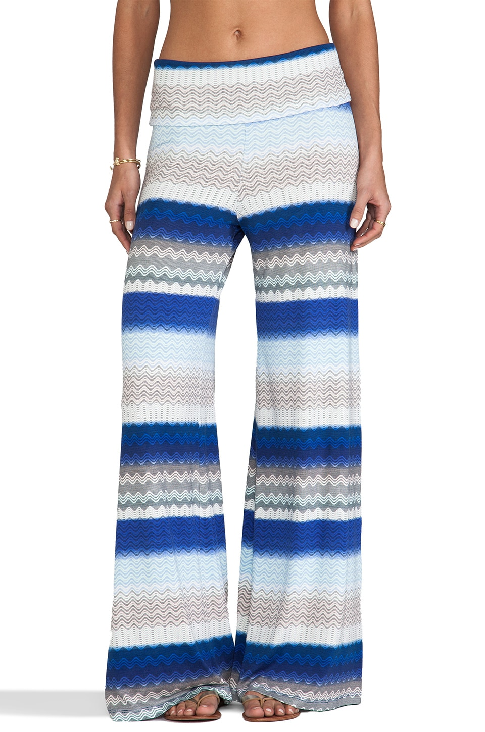 Karina Grimaldi Basic Knit Pant in Sea Shore