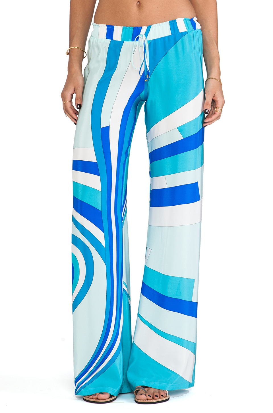 Karina Grimaldi Maui Wide Leg Pants in Blue Aruba