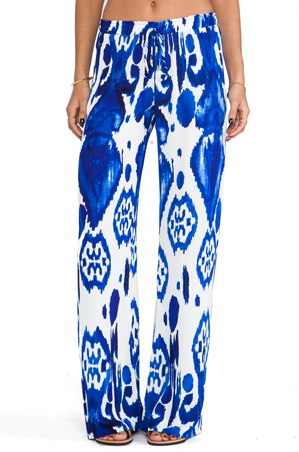 Karina Grimaldi Maui Wide Leg Pants in Calico