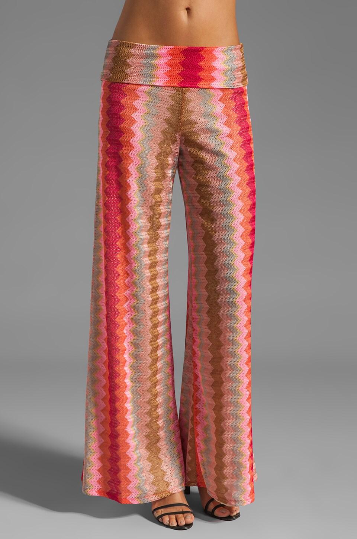 Karina Grimaldi Basic Knit Pant in Pink Zig Zag