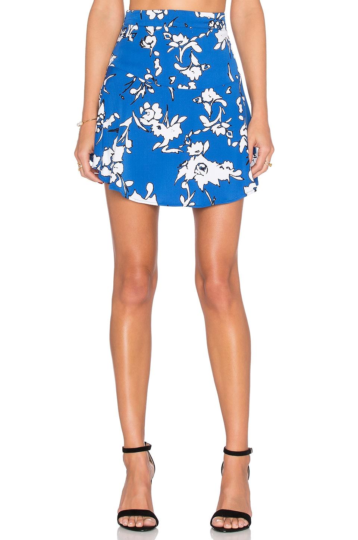 Karina Grimaldi Reeta Skirt in Blue Manila
