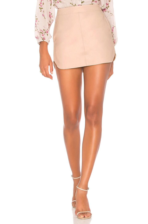 Karina Grimaldi Jacob Leather Skirt in Blush