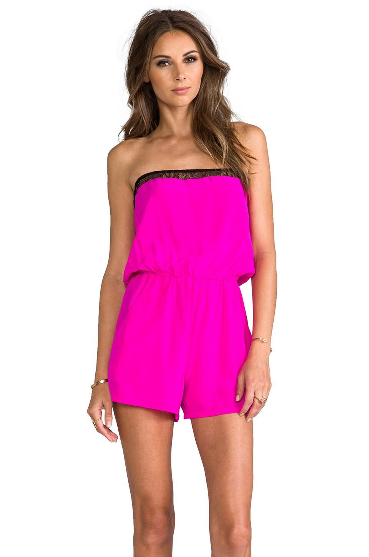 Karina Grimaldi Arabella Romper in Neon Pink