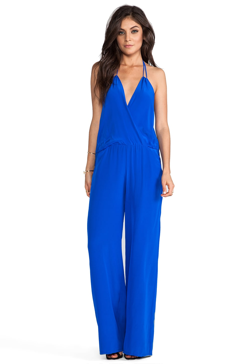 Karina Grimaldi Gardenia Solid Jumpsuit in Electric Blue