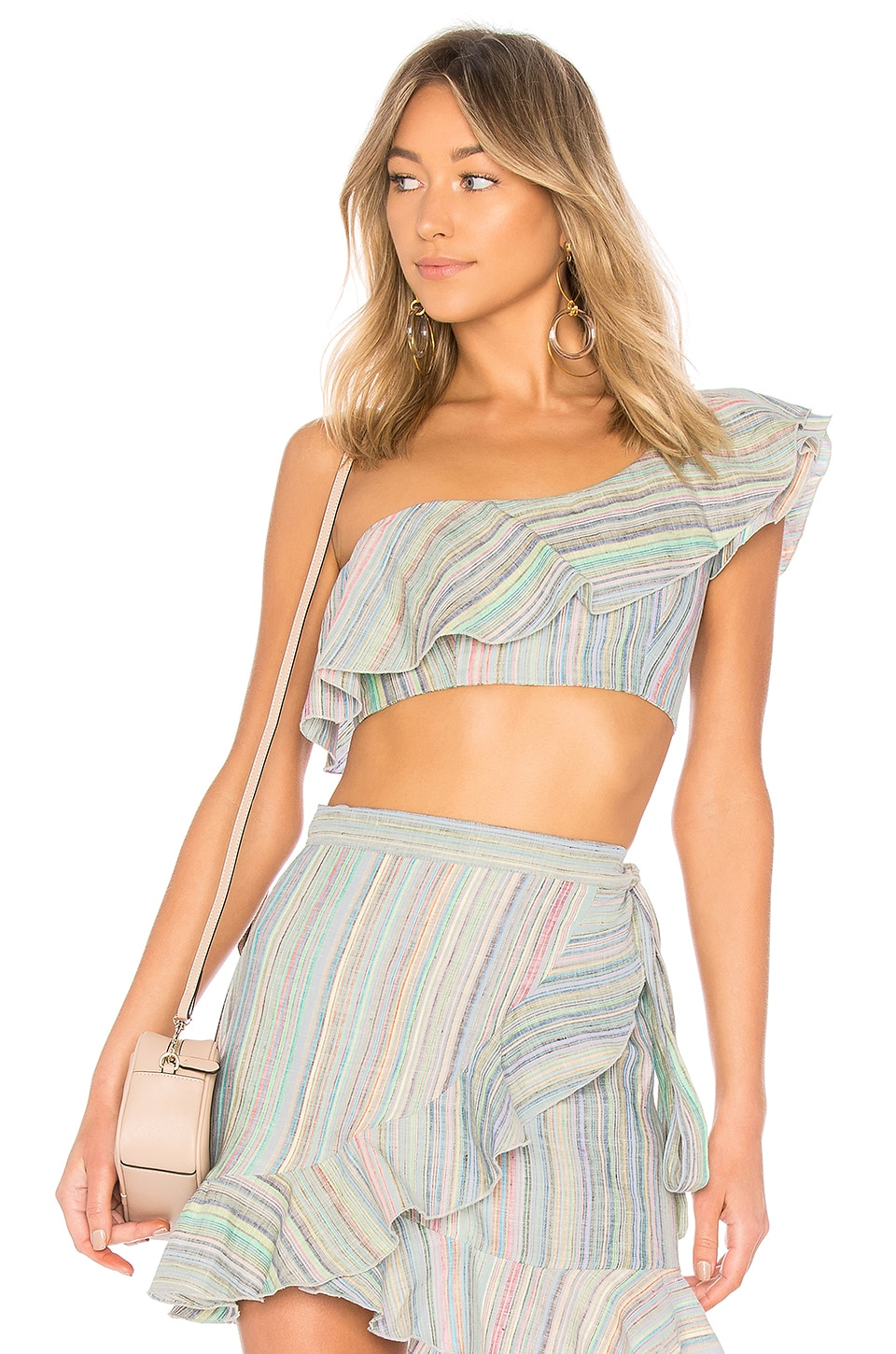 Karina Grimaldi Kari Top in Rainbow Stripe