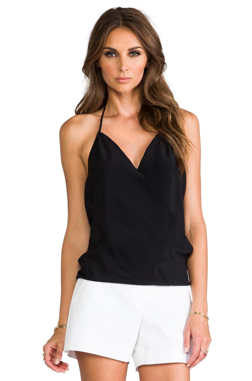 Karina Grimaldi Yanina Solid Top in Black