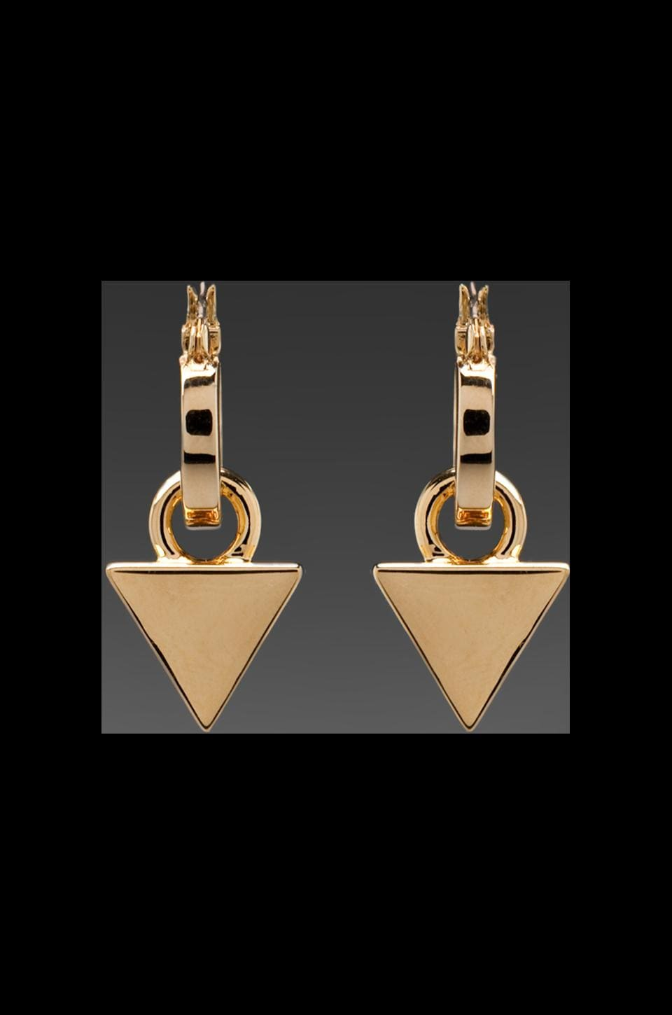 Roman Luxe Luxe Hoop Triangle Earrings in Gold