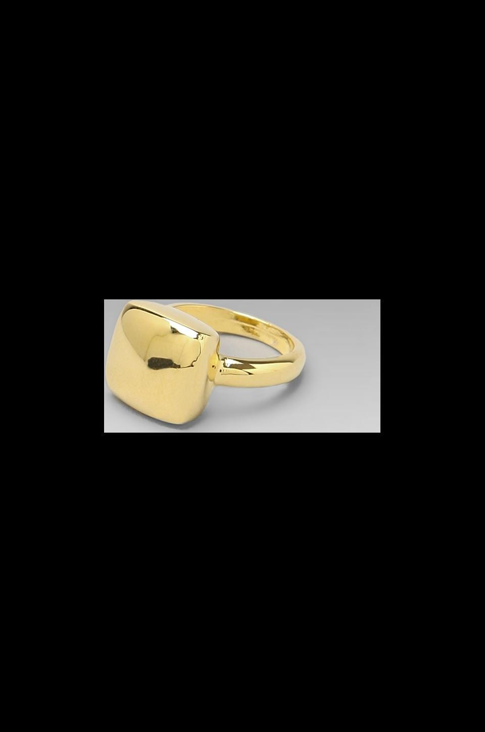 Roman Luxe Polished Pinky Ring in Gold