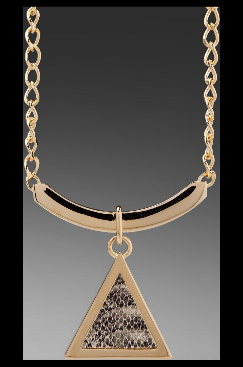 Roman Luxe Python Pendant Necklace in Gold