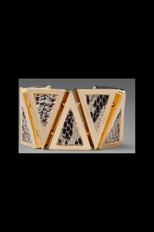 Roman Luxe Multi Python Bracelet in Gold