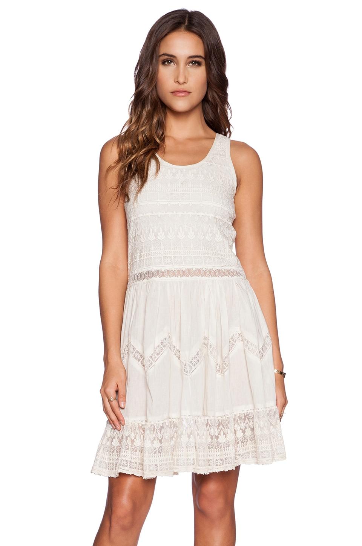 KAS New York Amira Mini Dress in Ivory