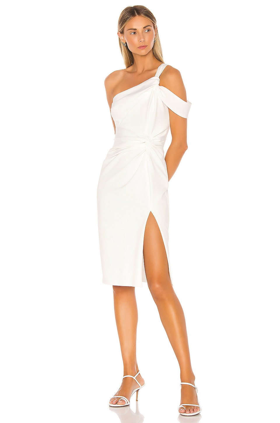 Katie May Chic AF Midi Dress in Ivory