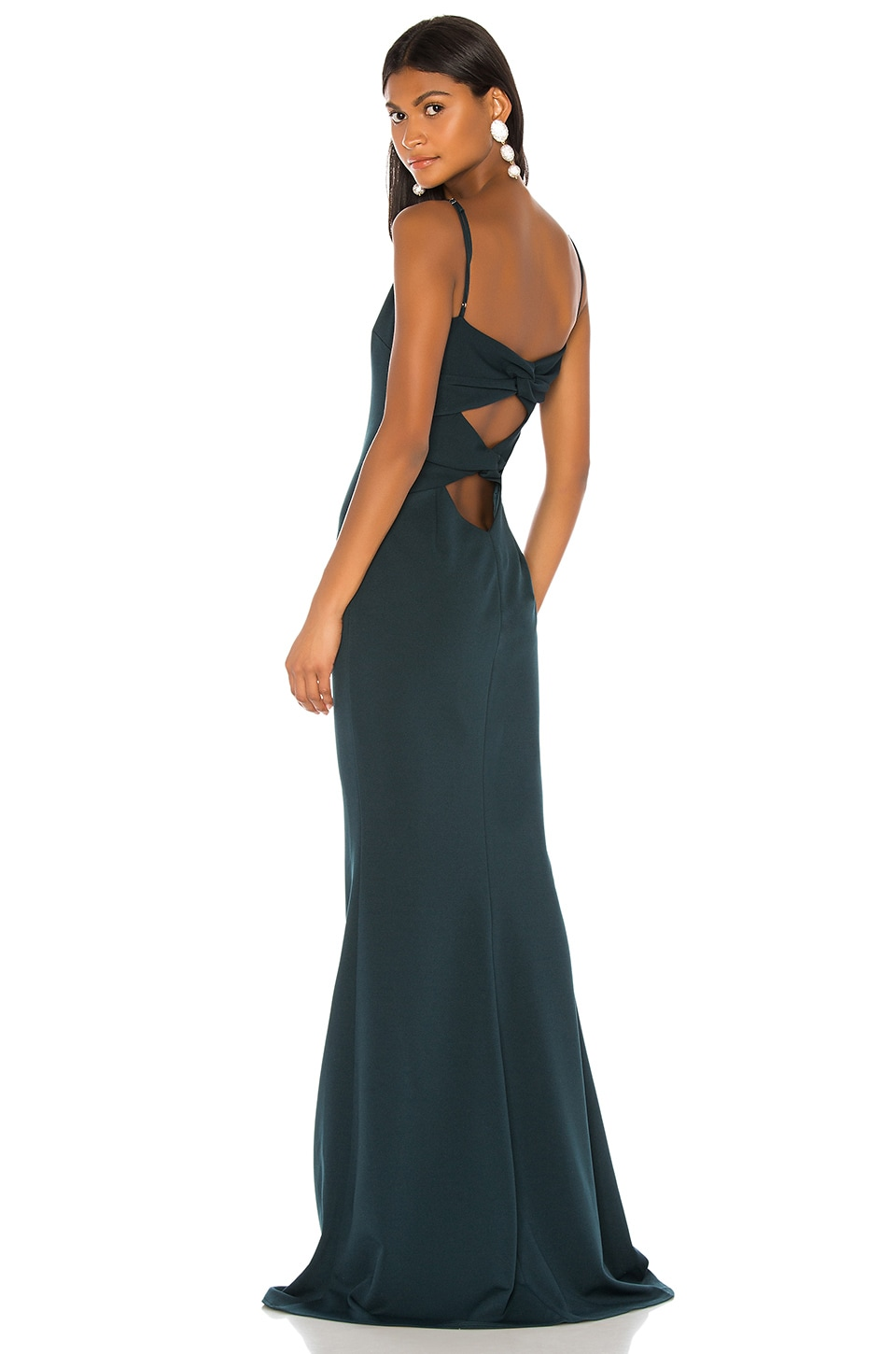 Katie May Forget Me Knot Dress in Dark Emerald