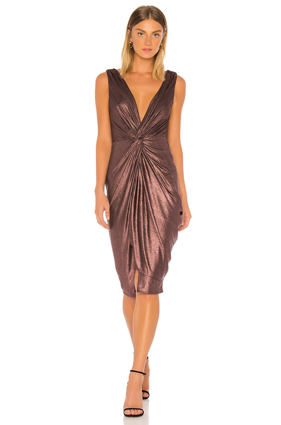 Katie May Sass Dress in Plum Metallic
