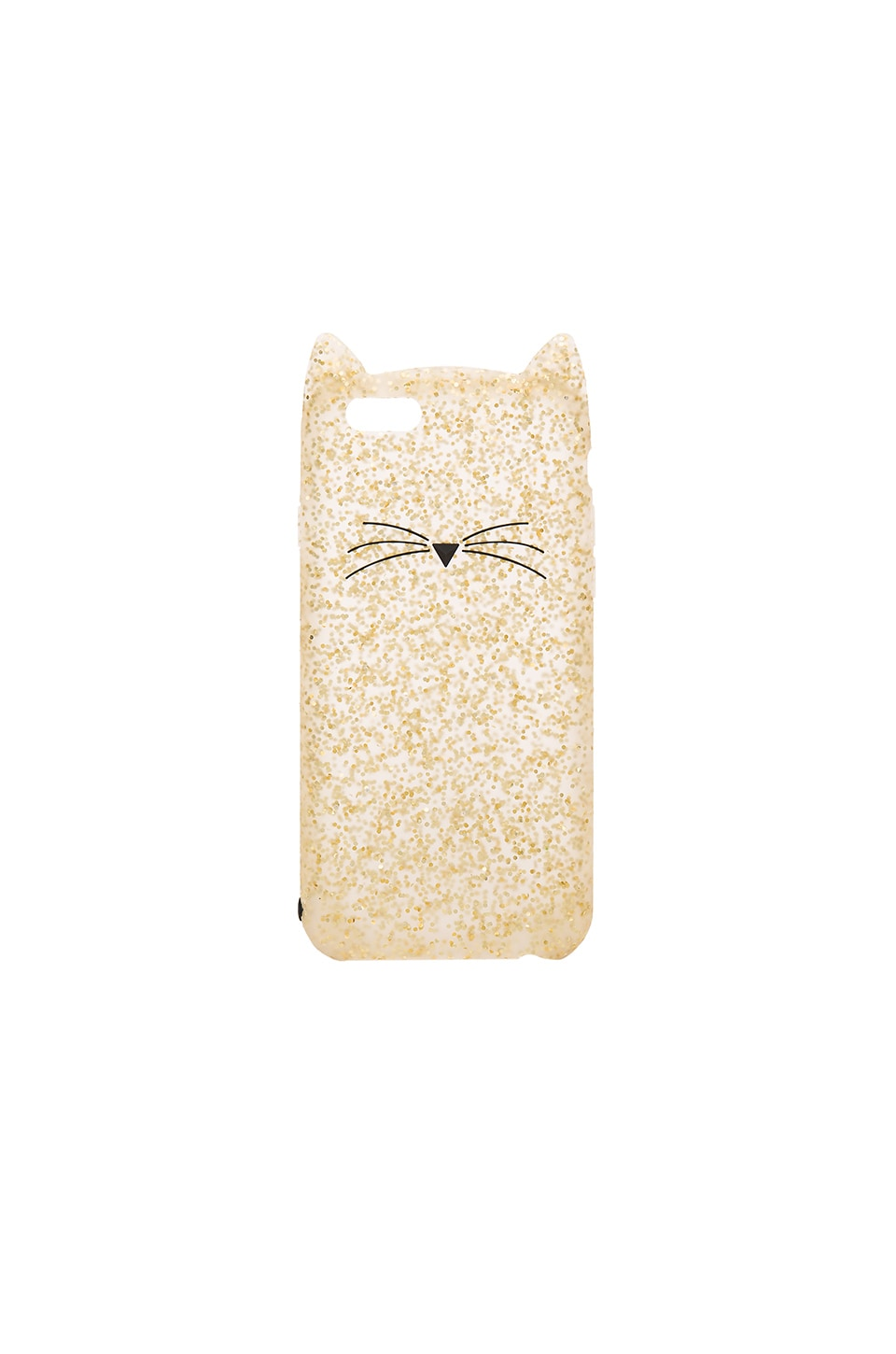 kate spade new york Glitter Cat iPhone 6/6s Case in Gold Glitter