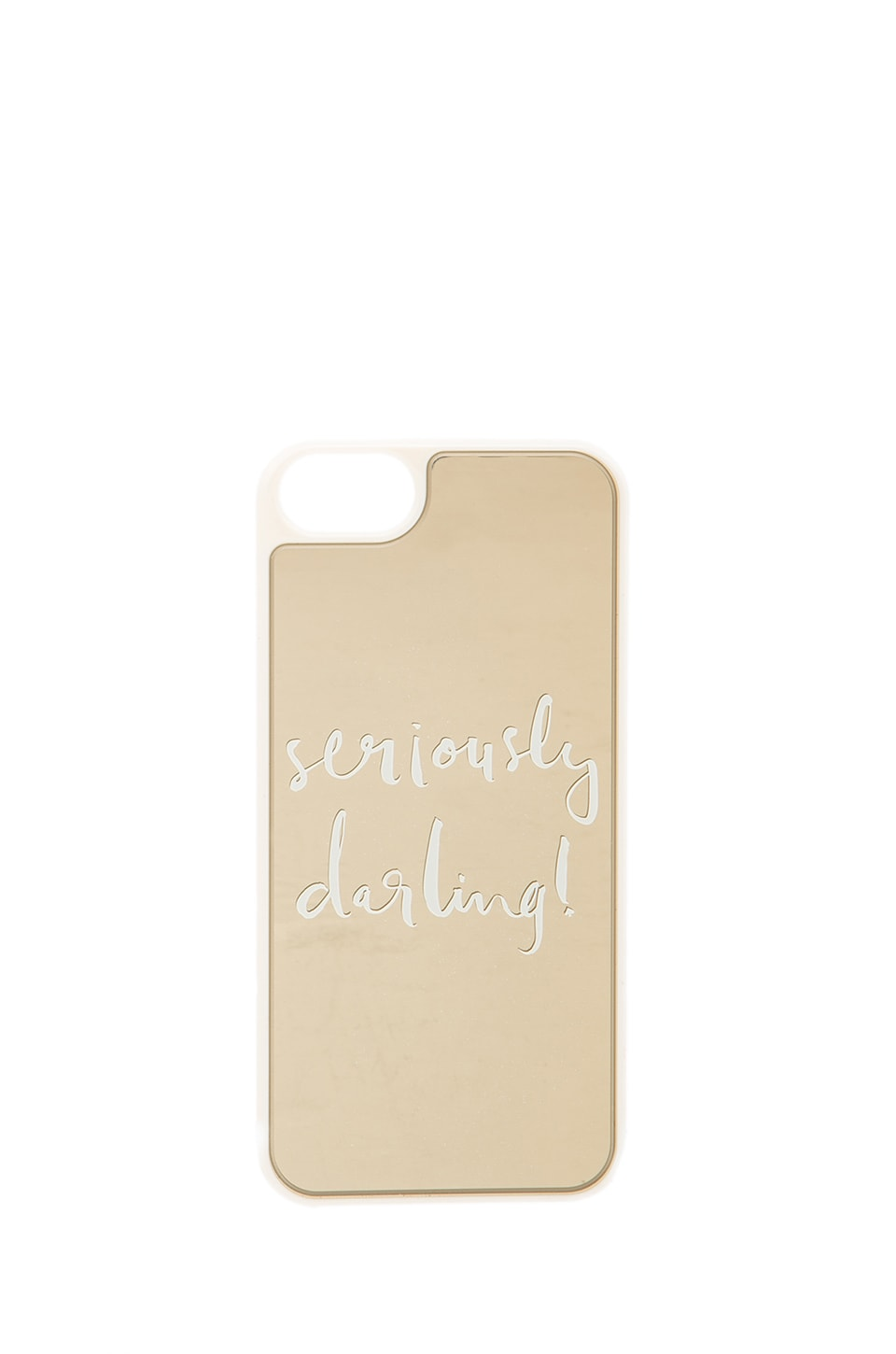 kate spade new york Seriously Darling iPhone 5 Case in Gold Mirror