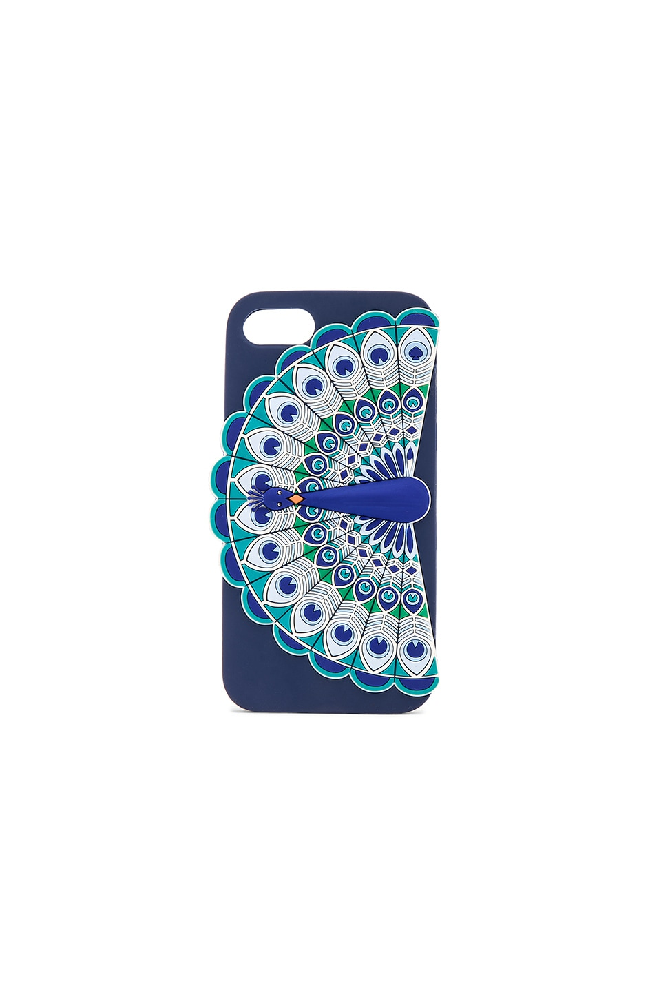 kate spade new york Silicone Peacock iPhone 7 Case in Blue Multi