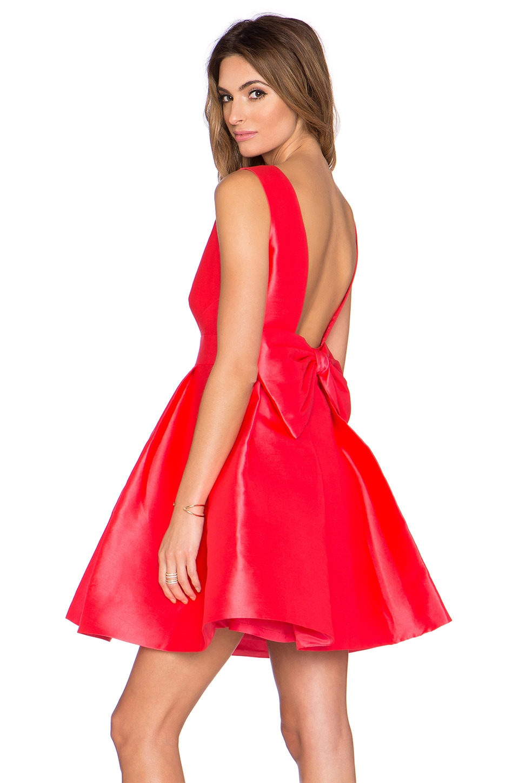 kate spade new york Open Back Mini Dress in Geranium