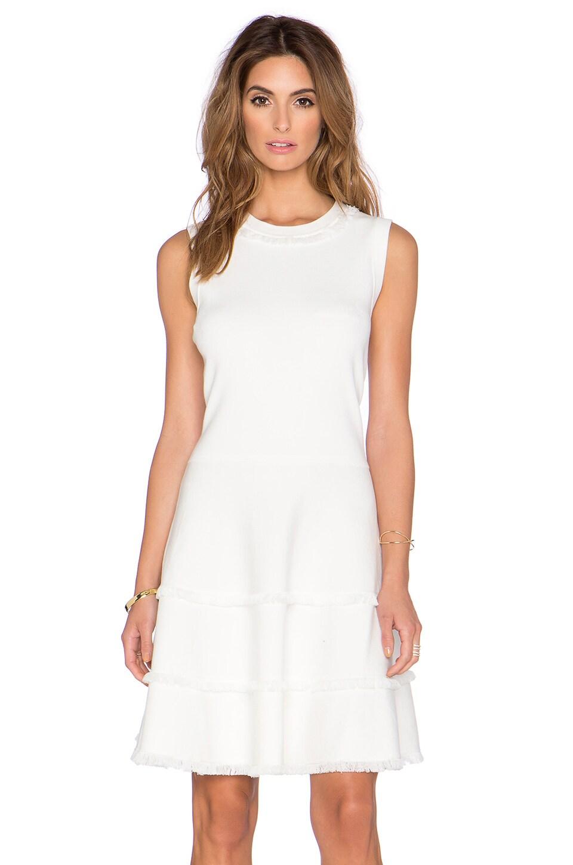 kate spade new york Fringe Sweater Dress in Fresh White