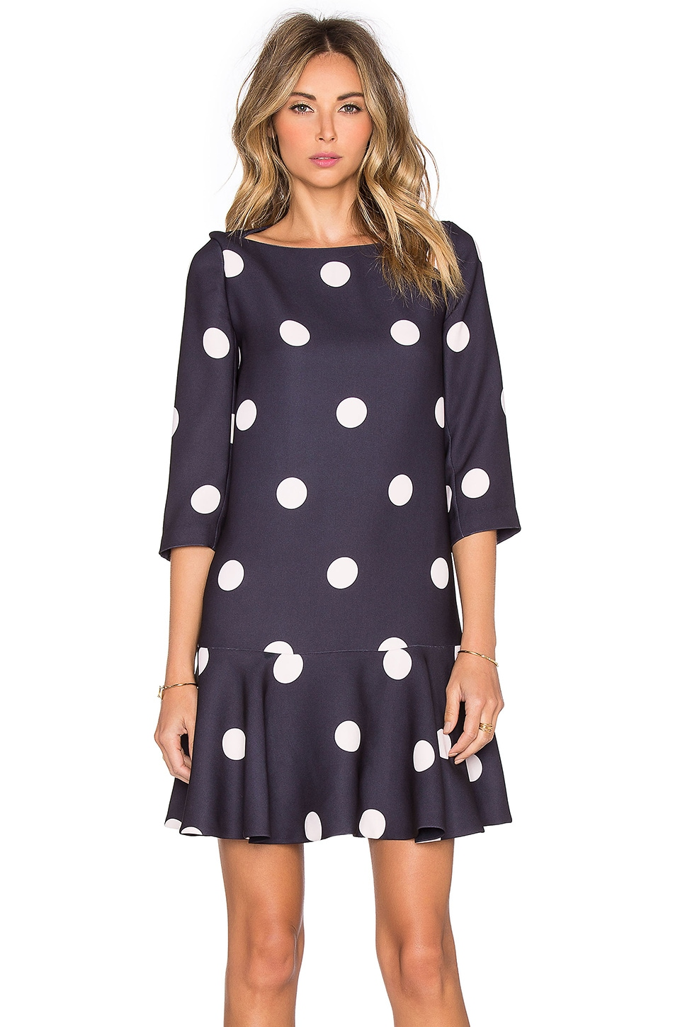 kate spade new york Spotlight Flounce Dress in Ink