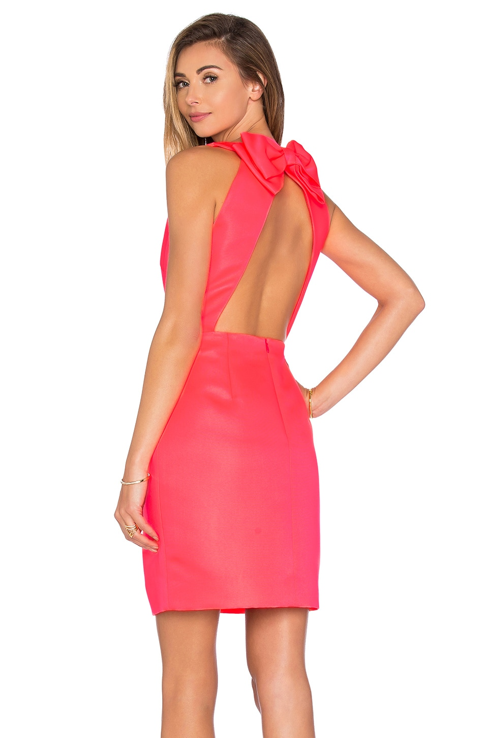 kate spade new york Bow Back Cupcake Dress in Surprise Coral