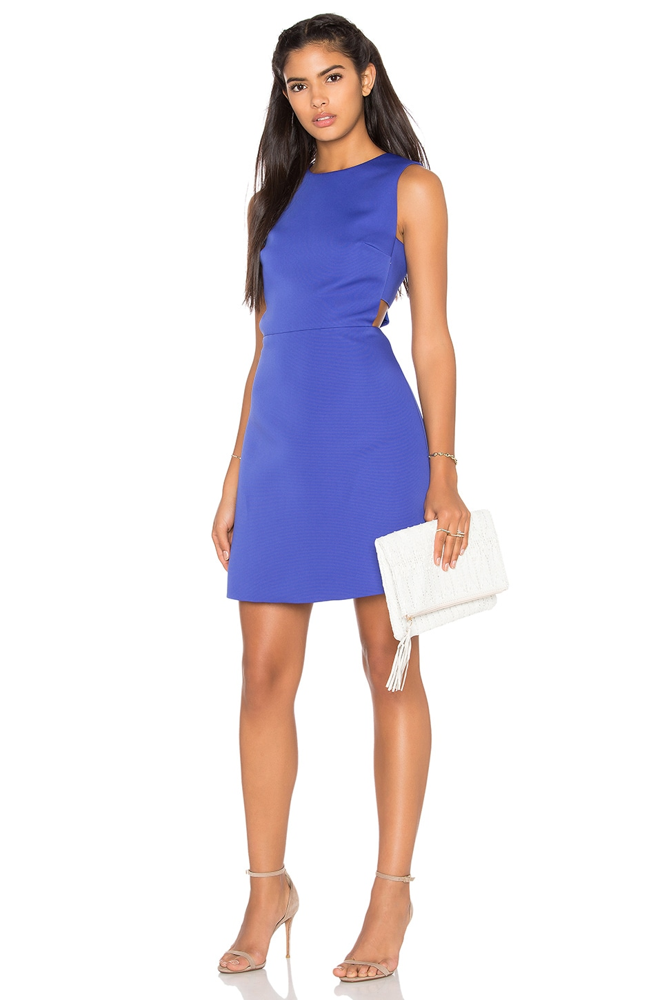kate spade new york Cutout A Line Dress in Indigo Ink