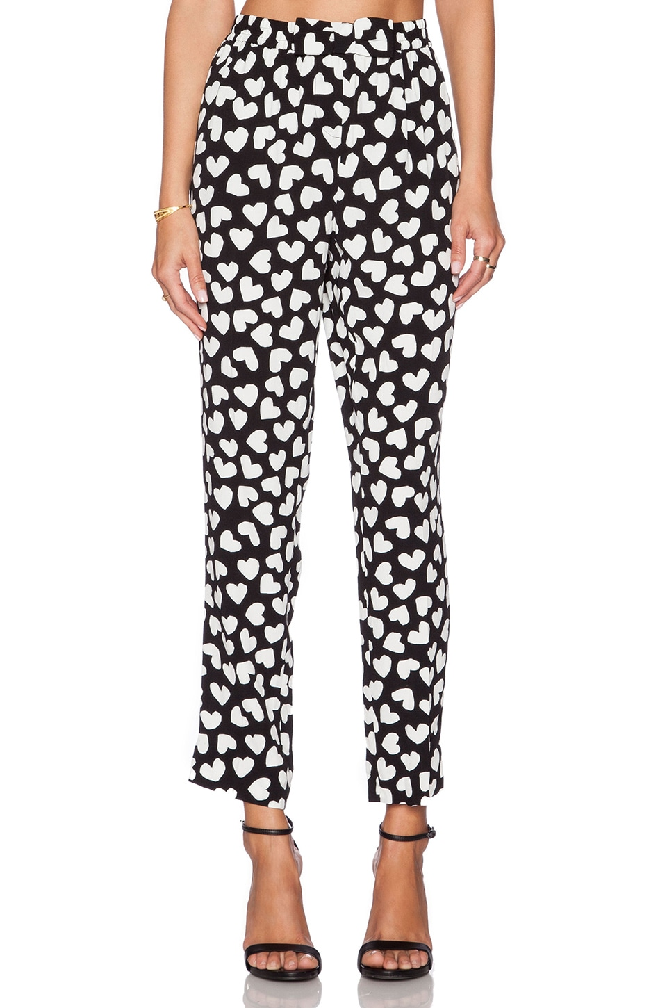 kate spade new york Dancing Hearts Ria Pant in Charcoal