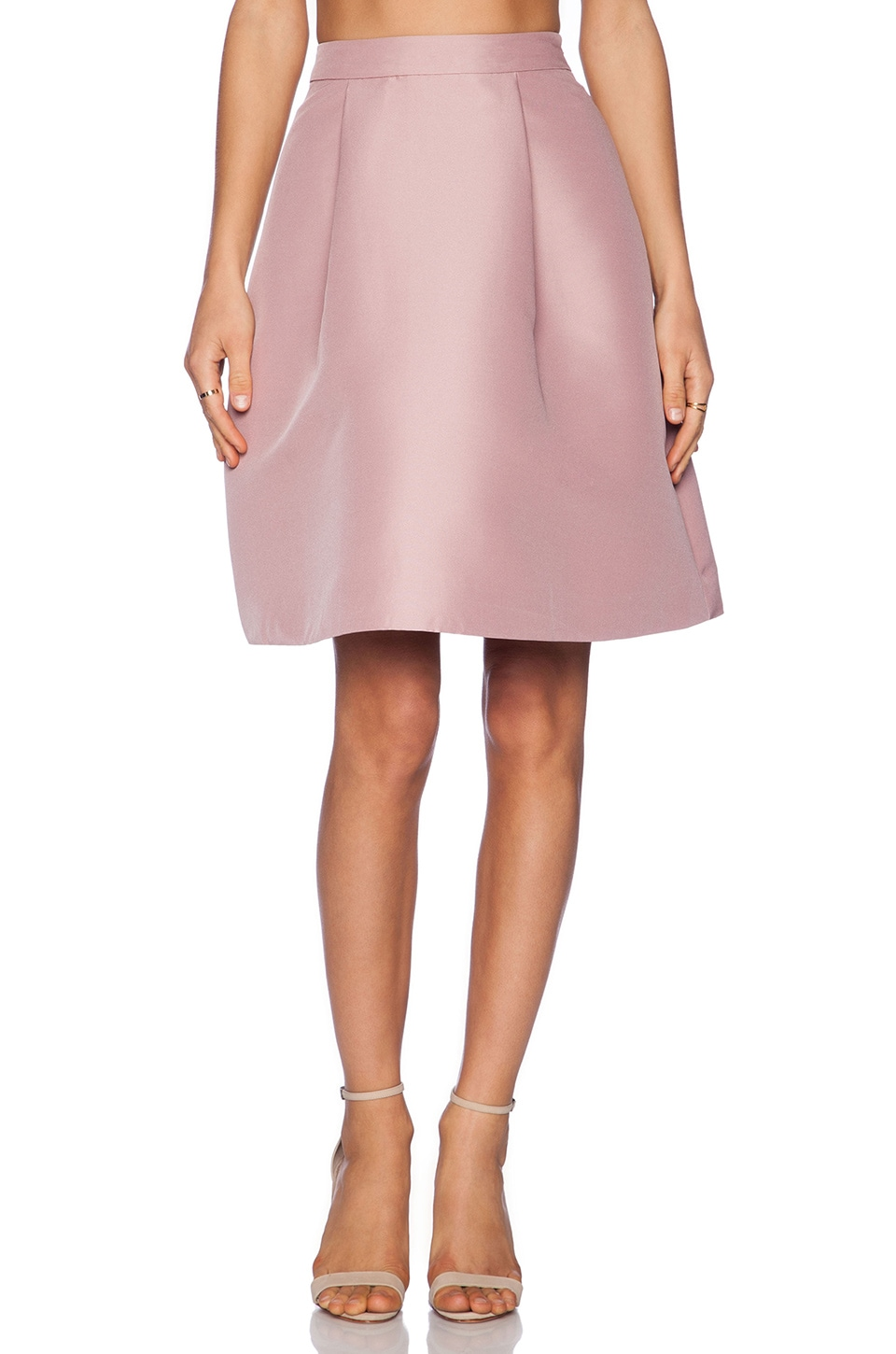 kate spade new york Pleated A Line Skirt in Light Chocolate Milk