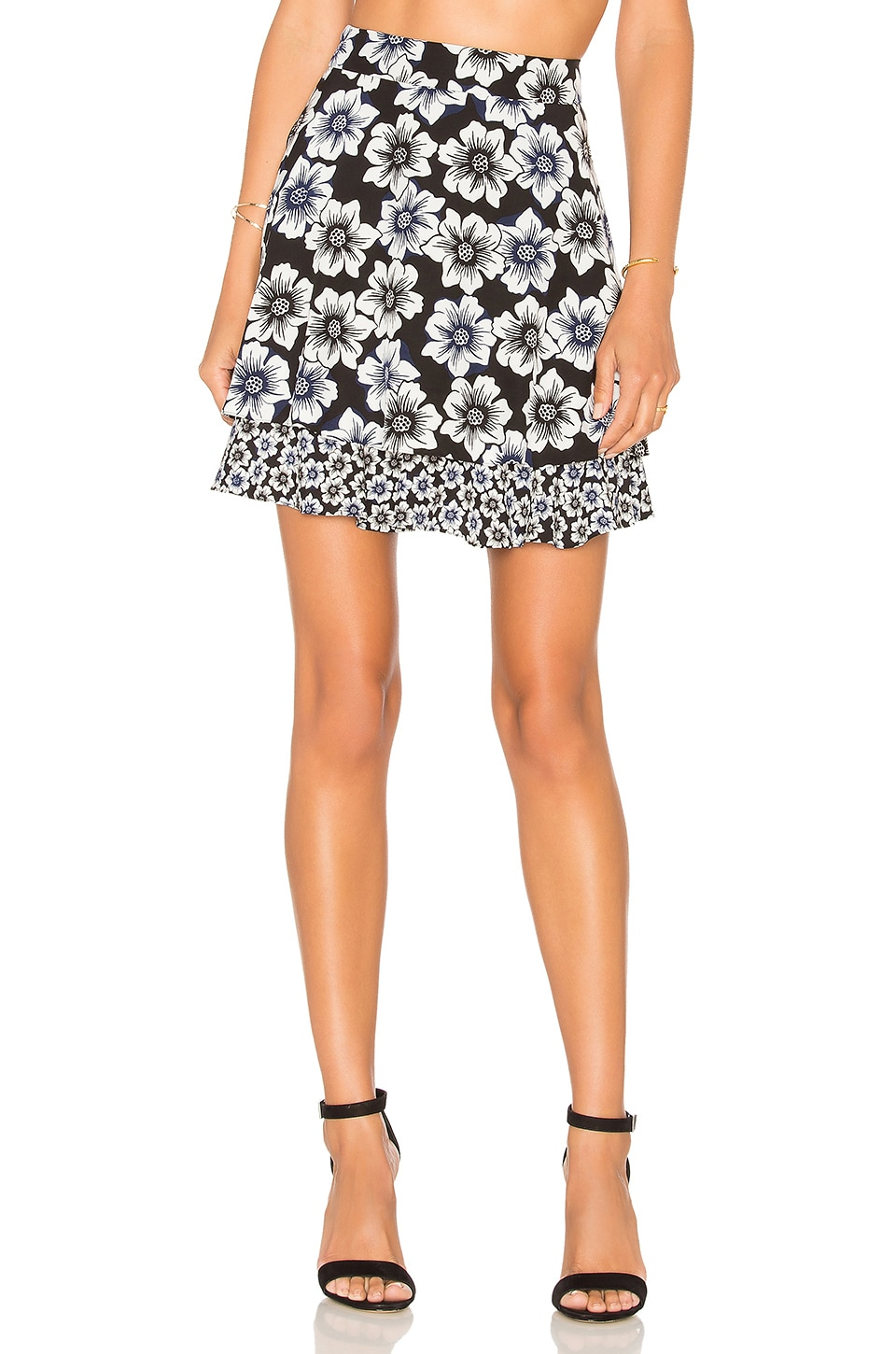 kate spade new york Hollyhock Double Layer Skirt in Black