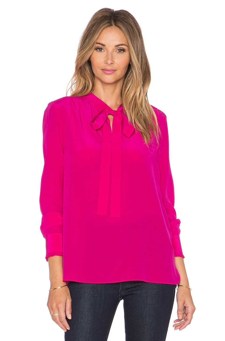 kate spade new york Bow Neck Top in Sweetheart PInk