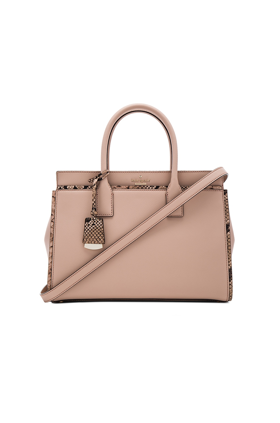 kate spade new york Candace Satchel Bag in Toasted Wheat