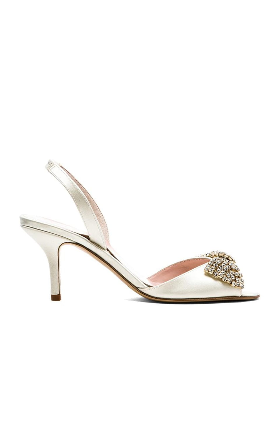 kate spade new york Miva Heel in Ivory Satin