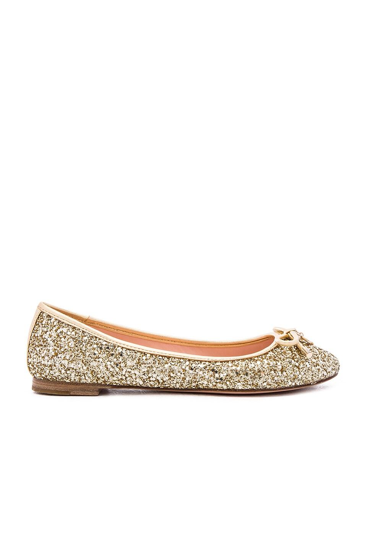 kate spade new york Willa Flat in Gold Glitter