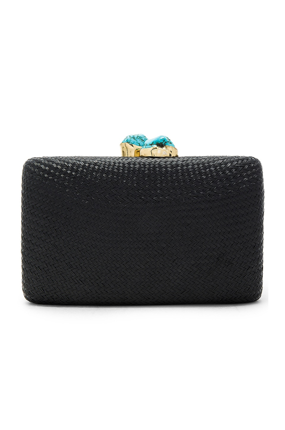 KAYU Jen Clutch in Black & Turquoise