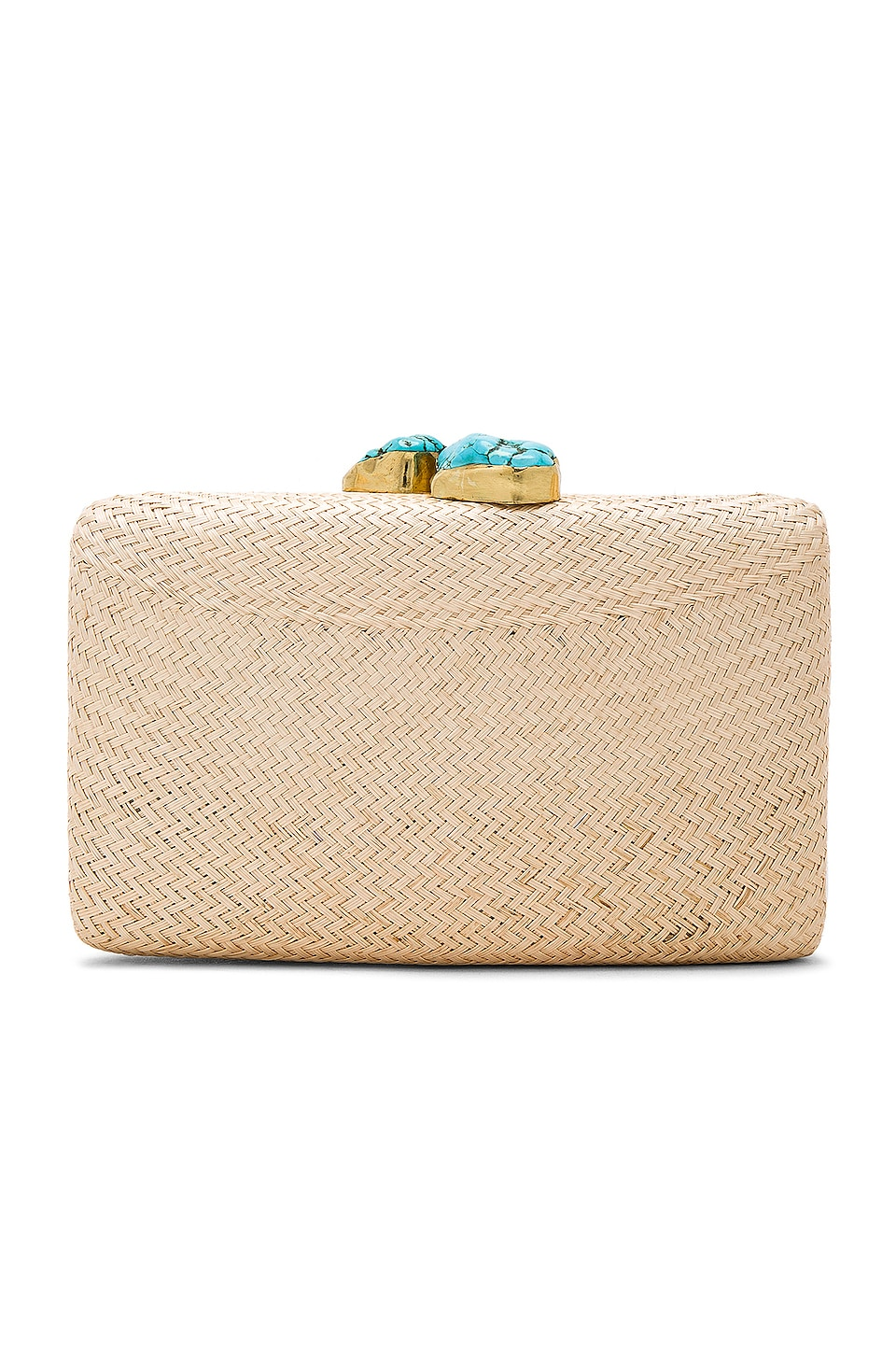 KAYU Jen Clutch in Toast & Turquoise