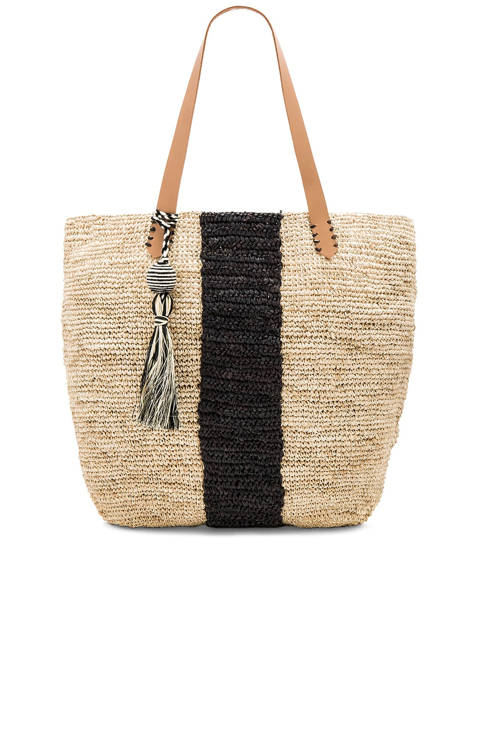 KAYU Pipeline Tote Bag in Natural & Black
