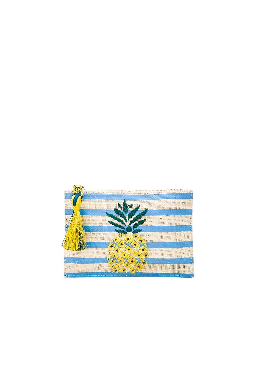 KAYU Pineapple Clutch in Blue