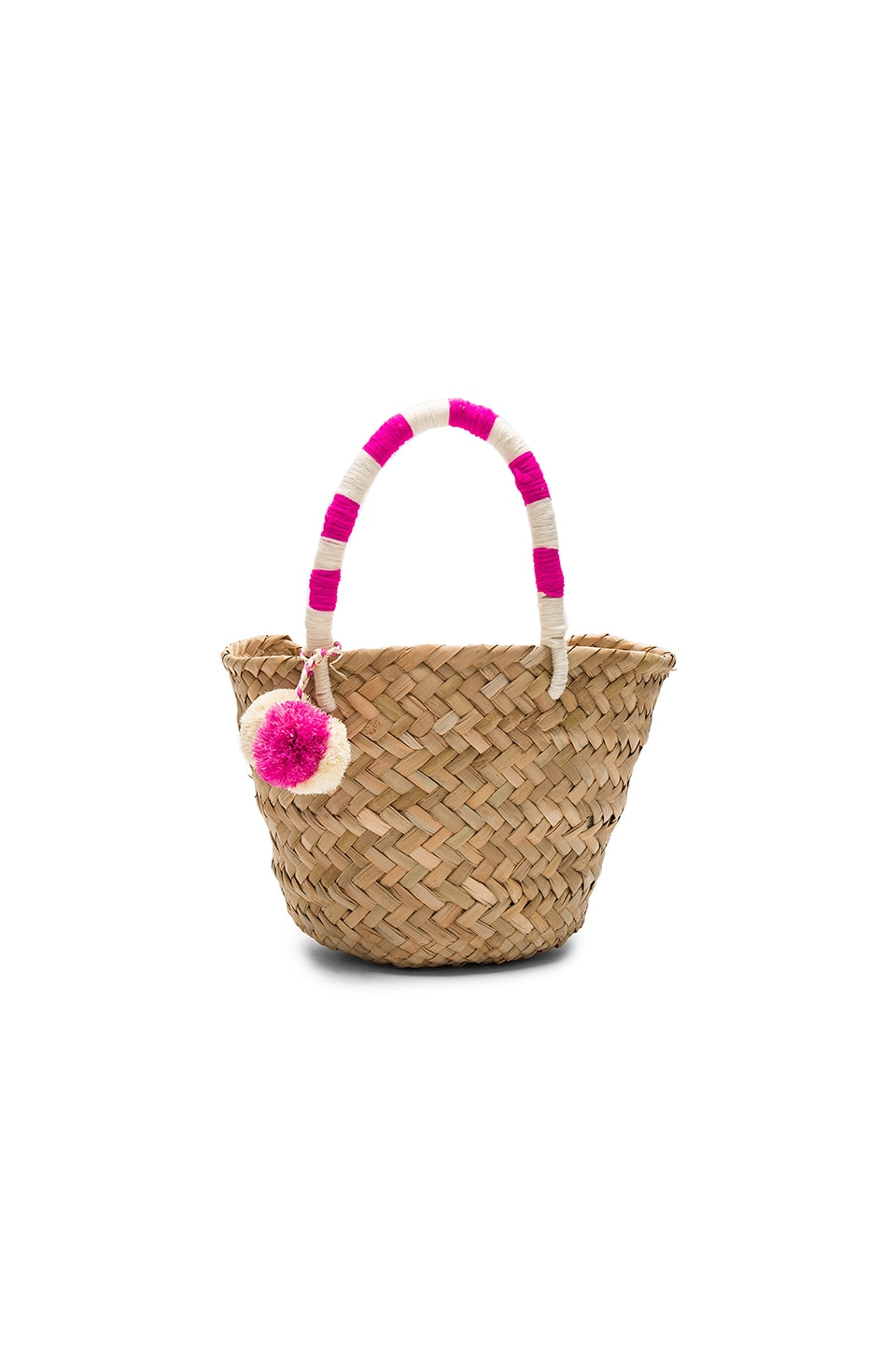 KAYU Mini St. Tropez Tote in Pink & White