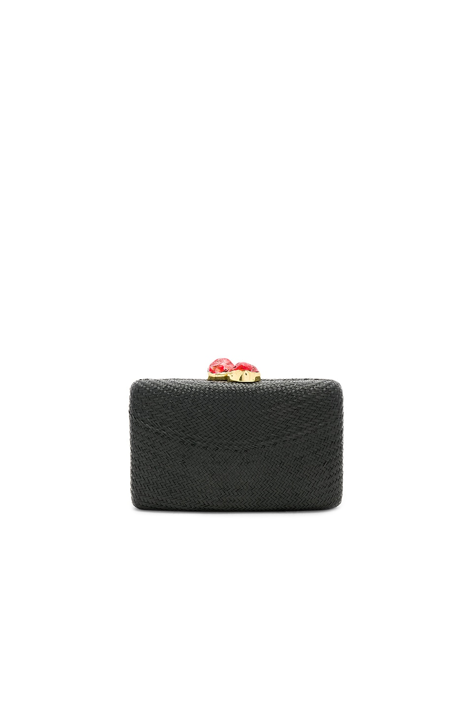 KAYU Jen Clutch in Black & Red