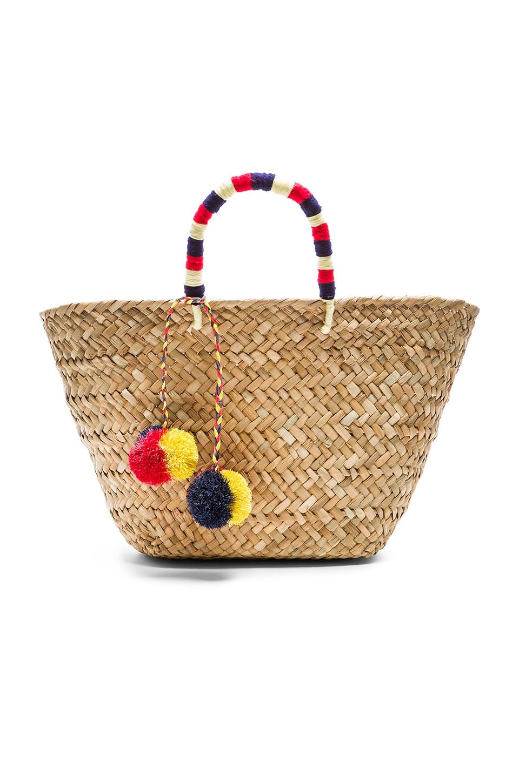 kayu st tropez tote bag in white navy revolve