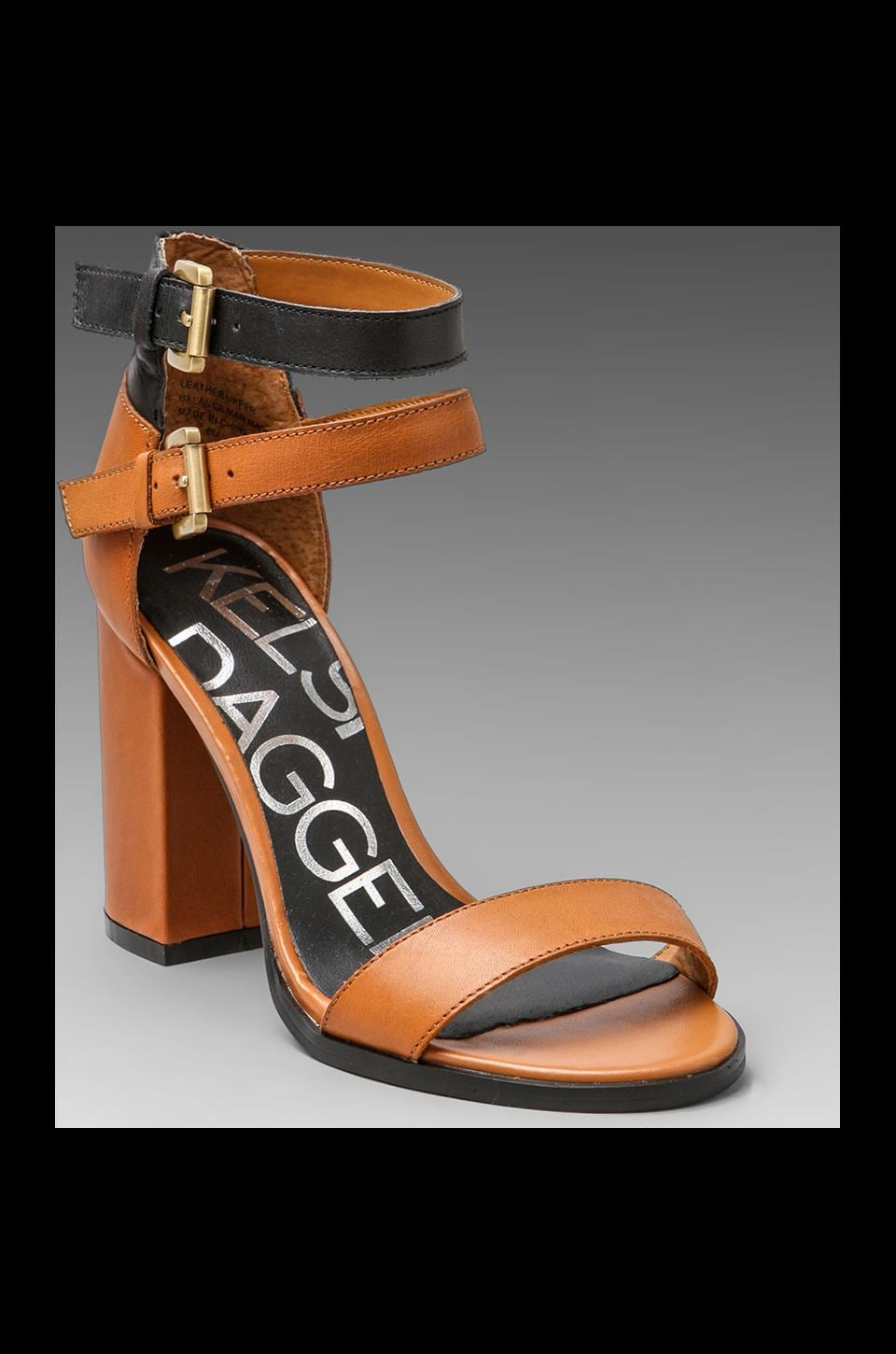Kelsi Dagger Gin Heel in Luggage/Black