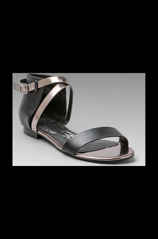 Kelsi Dagger Kacie Sandal in Black/Pewter