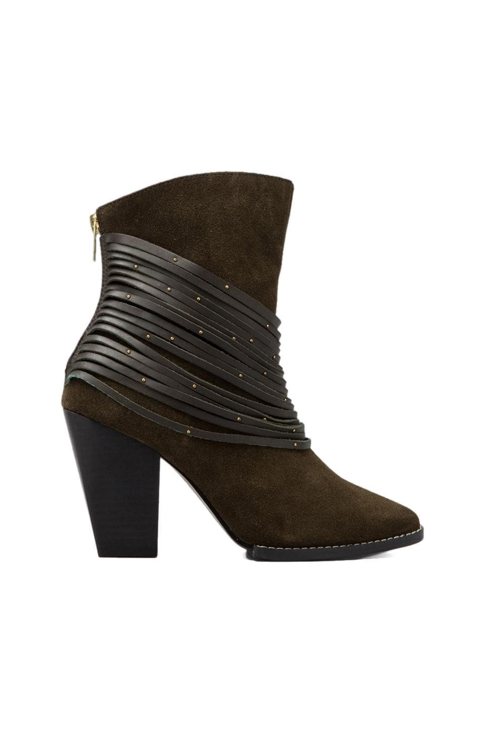 Kelsi Dagger Zena Bootie in Forest Green