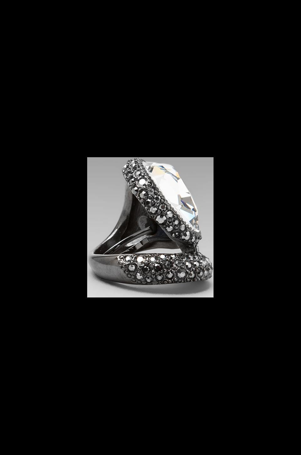 Kenneth Jay Lane Round Cut Wrap Ring in Gunmetal