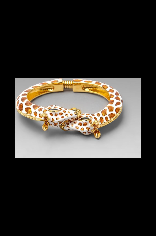 Kenneth Jay Lane Giraffe Hinge Bracelet in Multi