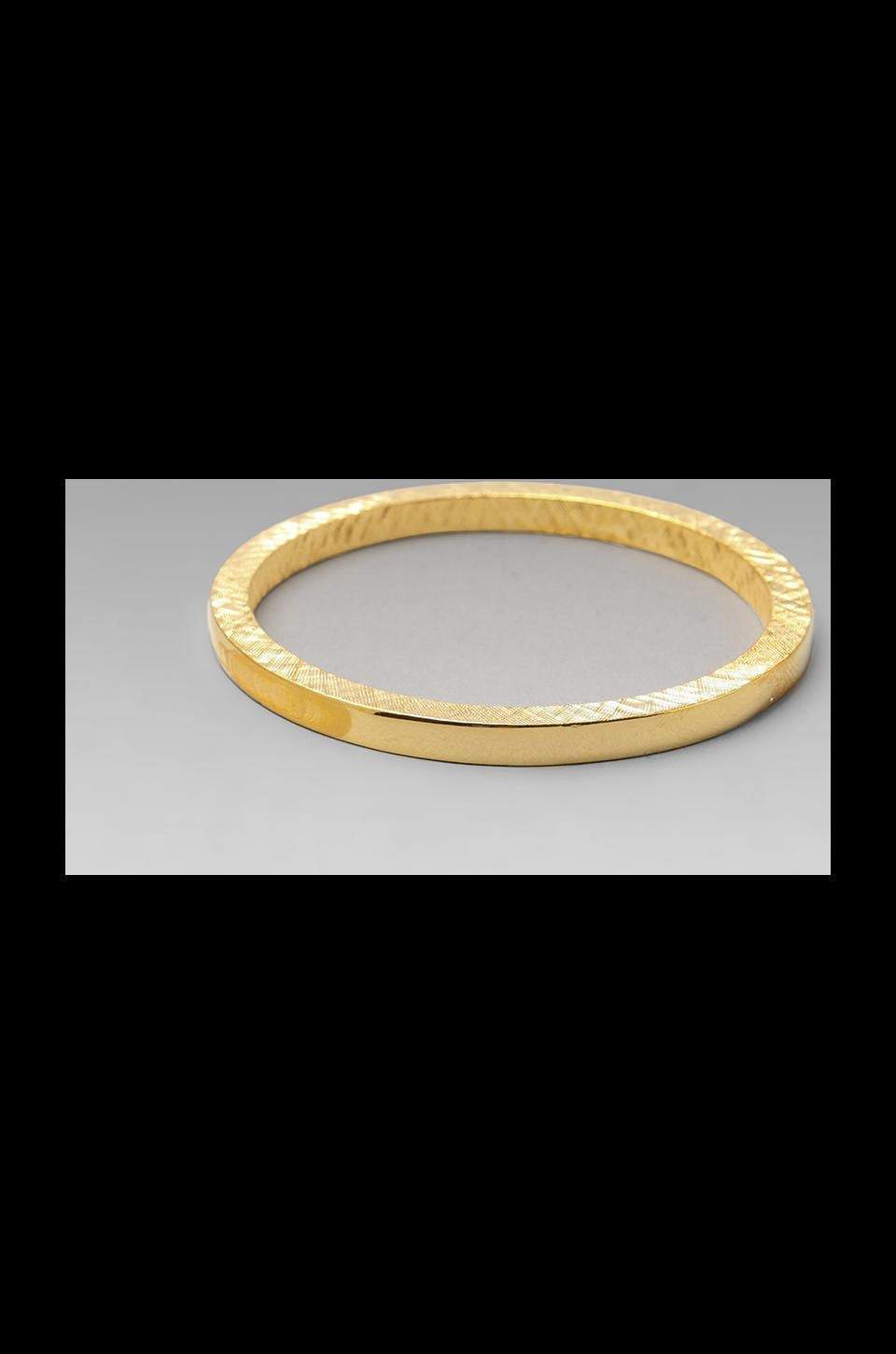Kenneth Jay Lane Bangle in Gold