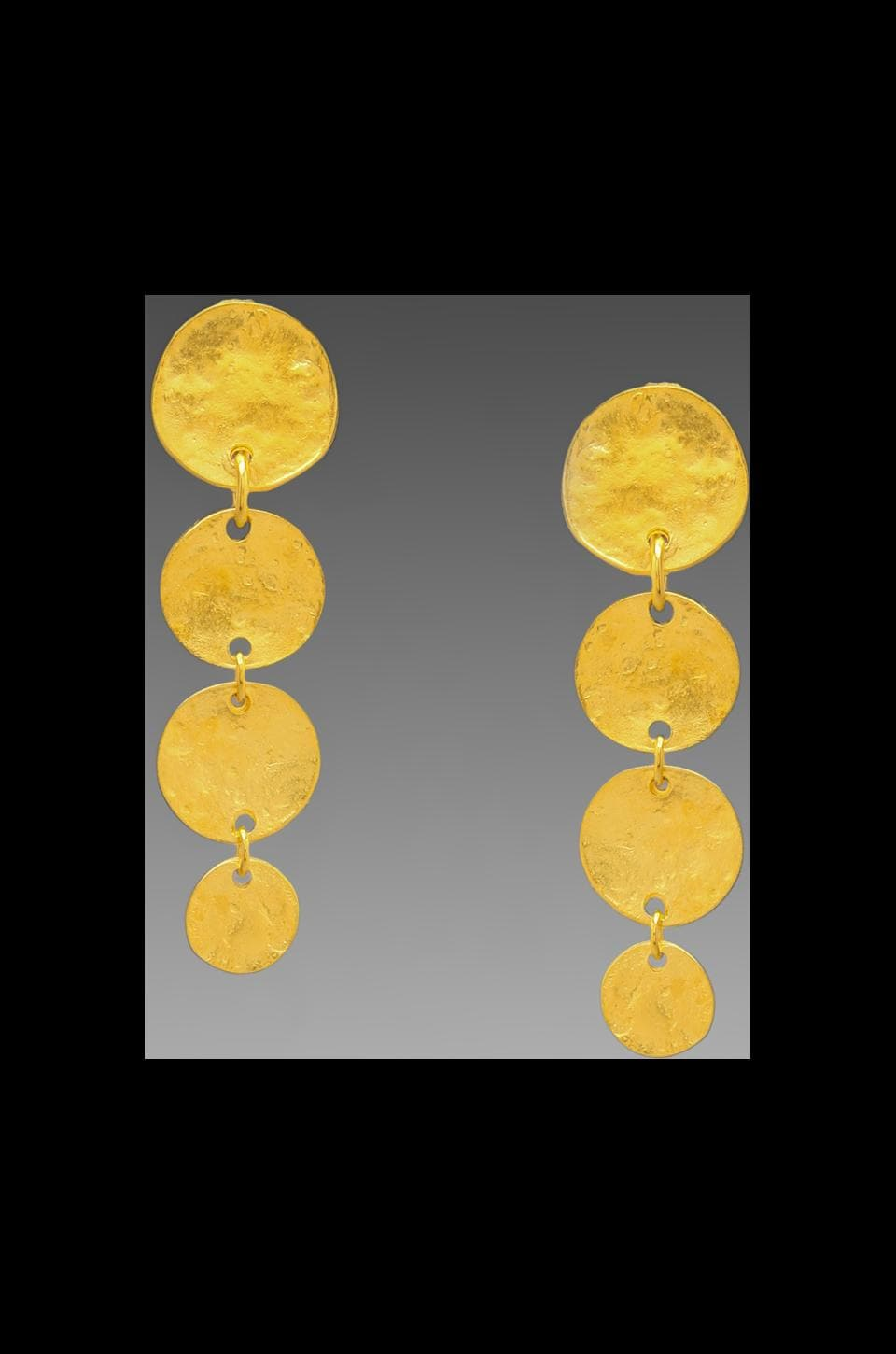 Kenneth Jay Lane 4 Coin Clip Earring in Gold