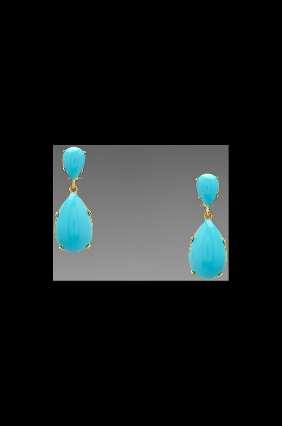Kenneth Jay Lane Drop Clip Earring in Turquoise