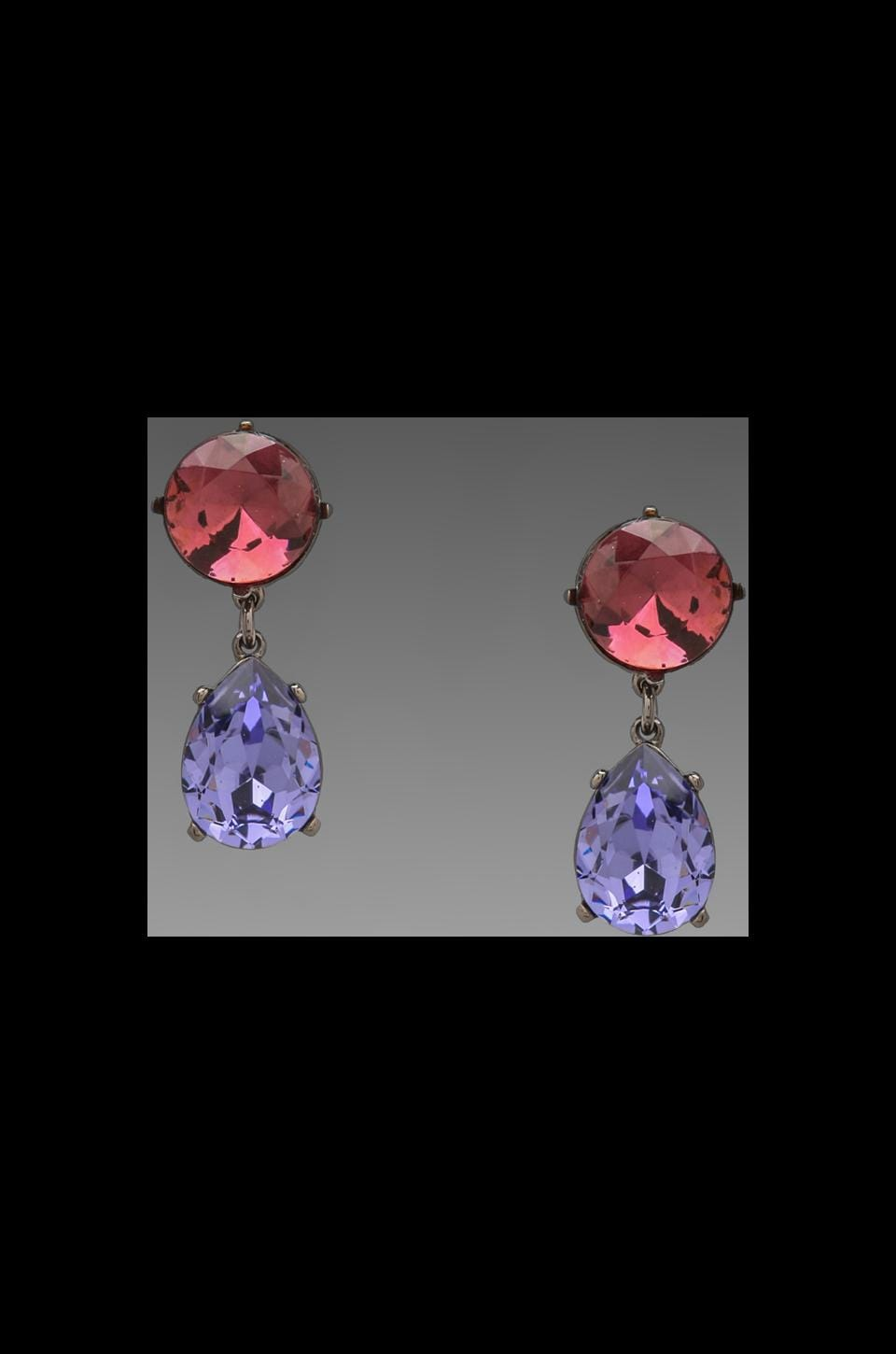 Kenneth Jay Lane Teardrop Earring in Amy/Tnz