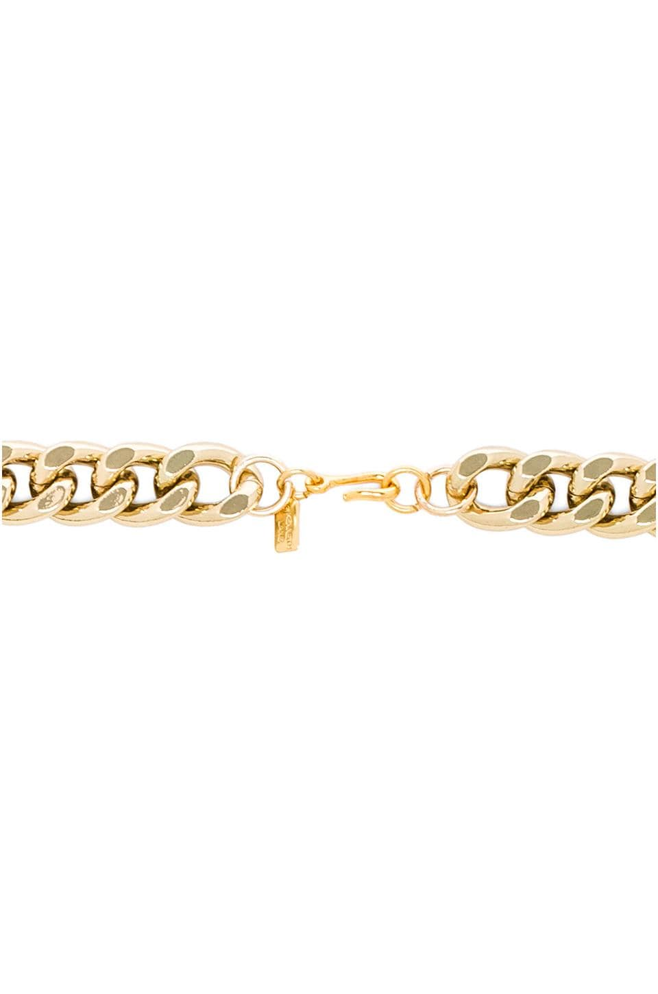"Kenneth Jay Lane 26"" Gold Link Chain Necklace in Gold"